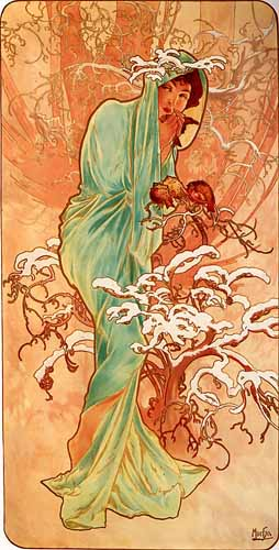 Winter - Alphonse Mucha